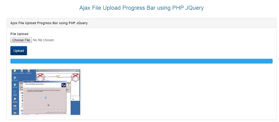 Ajax File Upload with Progress Bar using PHP JQuery