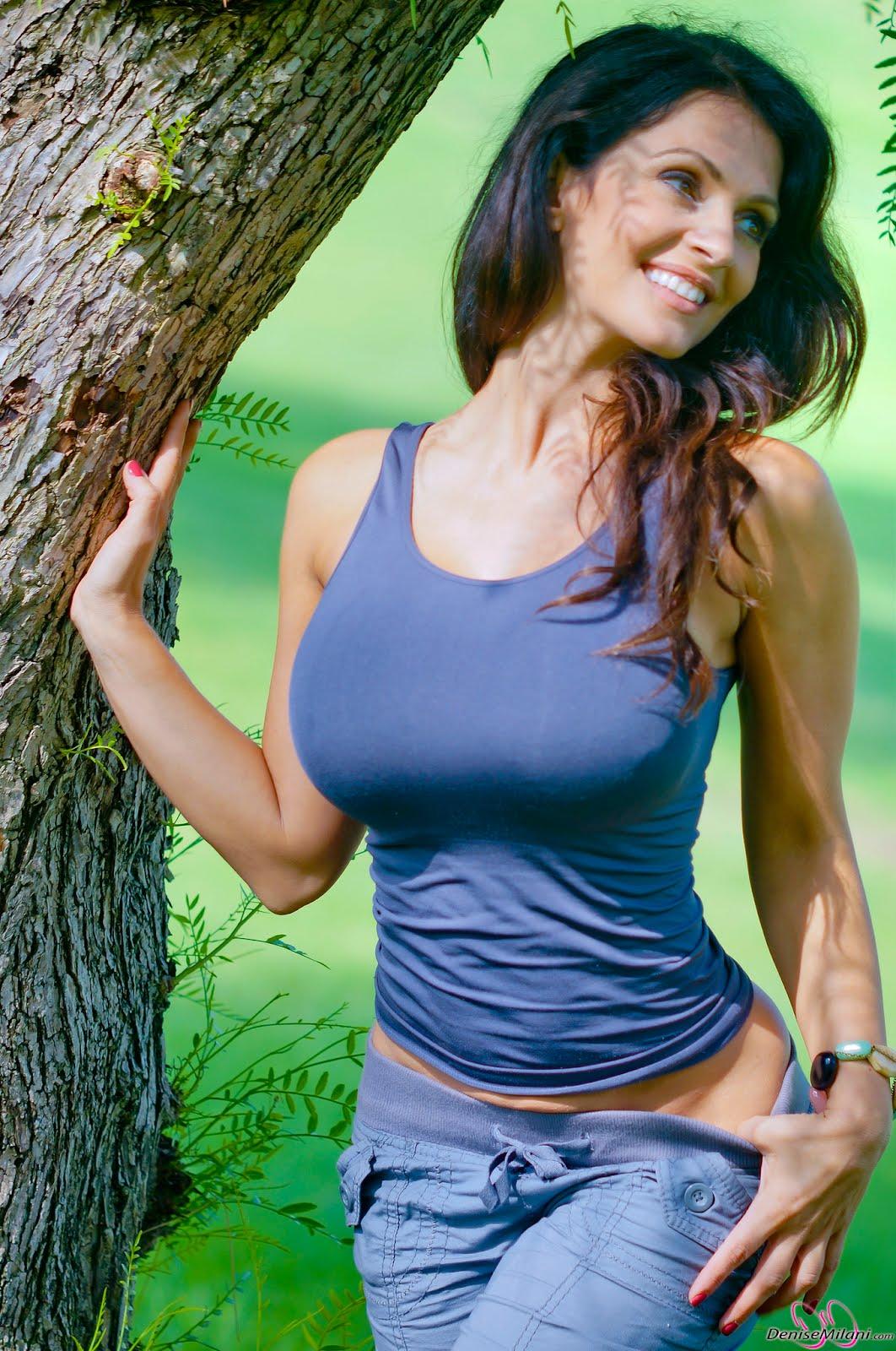 Hot Sexy Xxx Denise Milani Sexy Blue Dress Pics-6014