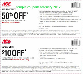 Ace Hardware coupons for february 2017
