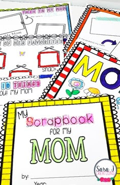 Free Mother's Day Scrapbook!  Cute way to see a child's perspective on their own mother.