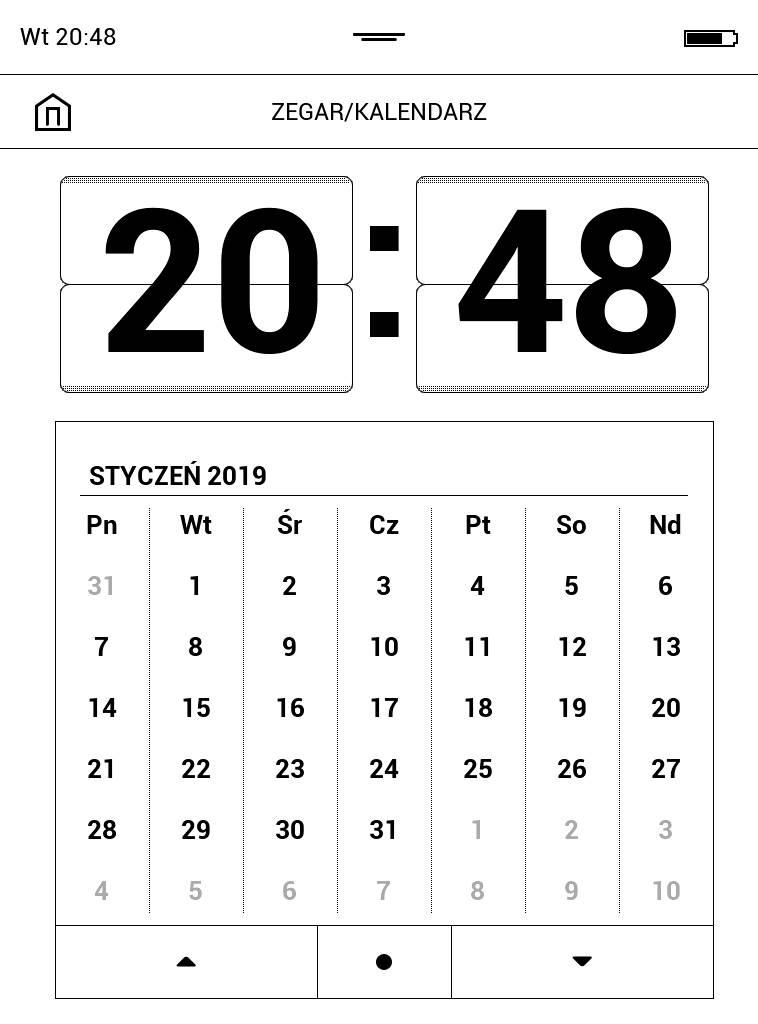 Kalendarz w PocketBook Touch Lux 4