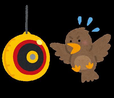 鳥よけのイラスト(目玉風船)