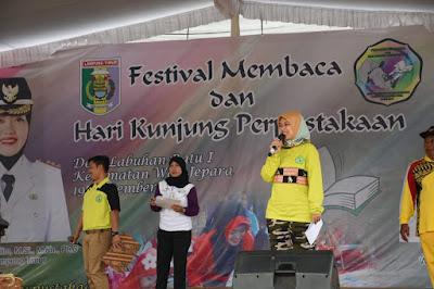 Bupati Lampung Timur Buka Festival Membaca dan Hari Kunjungan Perpustakaan Tahun 2018