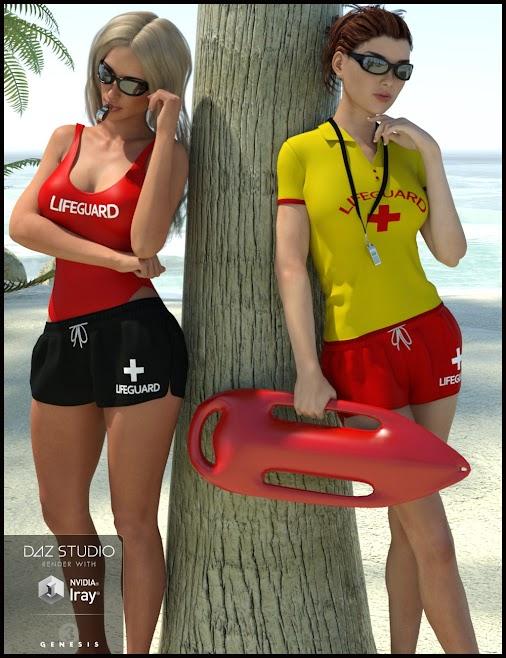 DAZ #3D - Lifeguard Uniform for Genesis 3 Female #DAZ3D - #LifeguardUniform for #Genesis3Female #Watch...