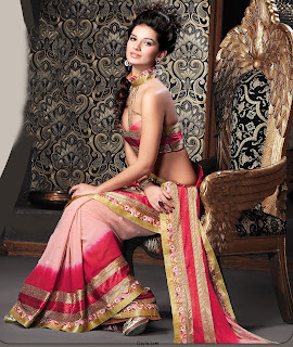 DUal Shade Beautiful Saree