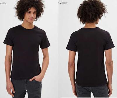 dos camisetas para hombre muy baratas de color negro