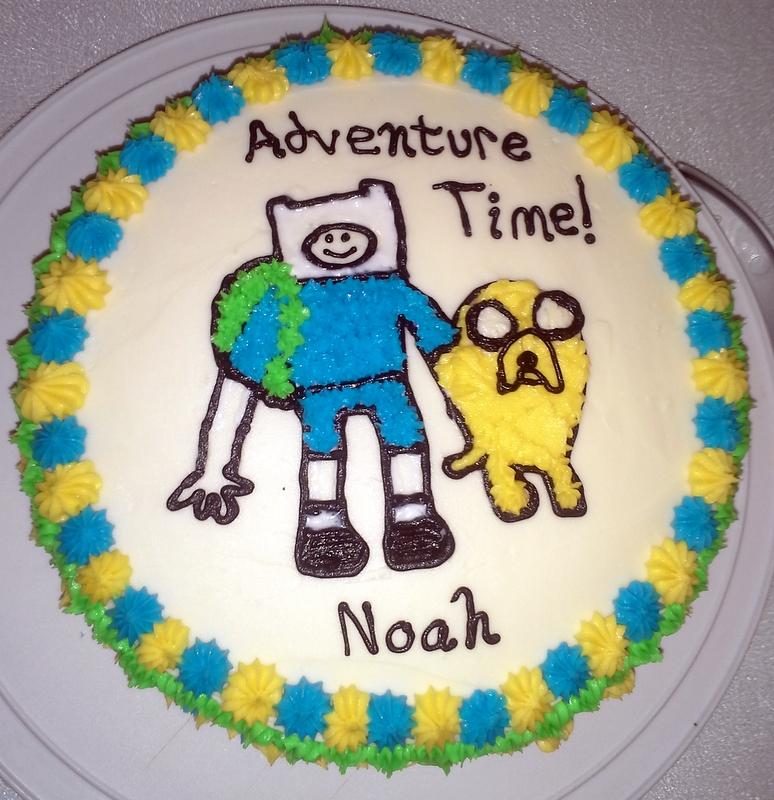 the tiny tyrant s kitchen adventure time birthday cake