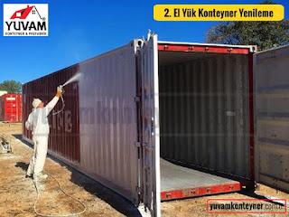40lık yük konteyner duvar boyası yenileme