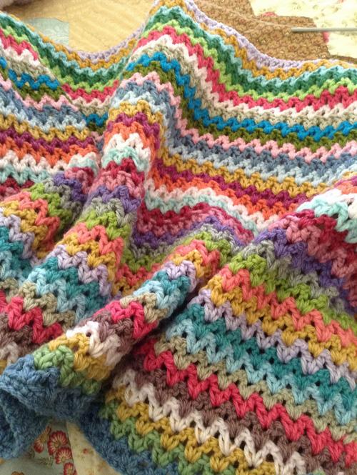 Crochet V Stitch - Free Diagram
