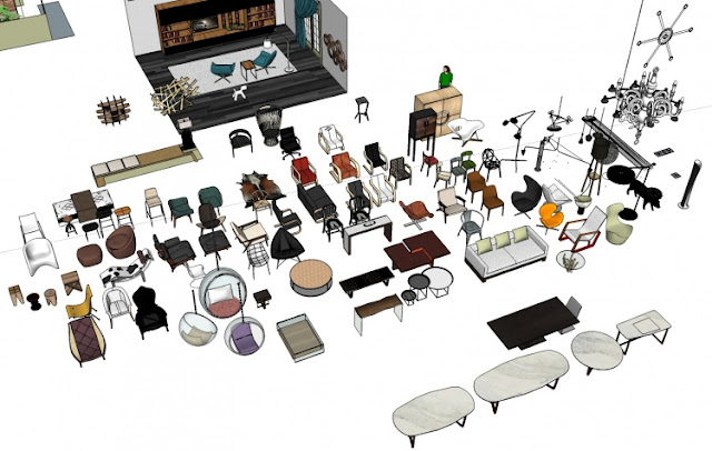Sketchup 3D Free model collection – Furniture  Collection