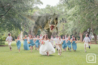Never invite a T-Rex to your wedding