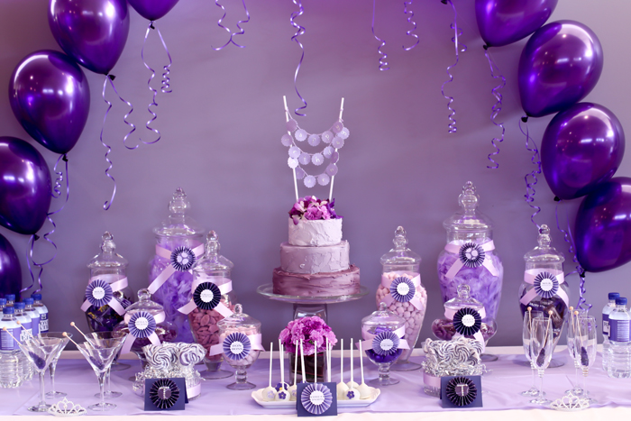 Purple Birthday Theme Ideal Vistalist Co