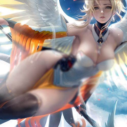 Overwatch Angel Miss Sister Wallpaper Engine
