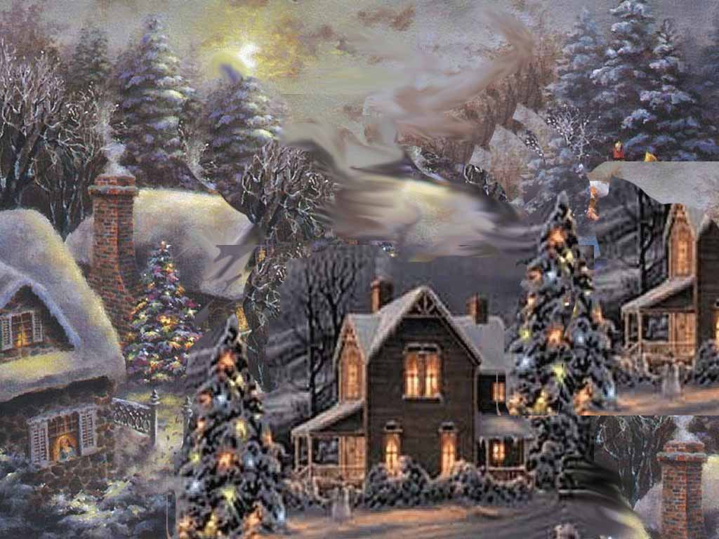 Happy Christmas Wallpaper 3d Hd Wallpapers Winter Scenes For Desktop
