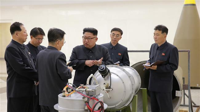 North Korean leader Kim Jong-un inspects domestically-built hydrogen bomb