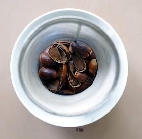Cracked acorns