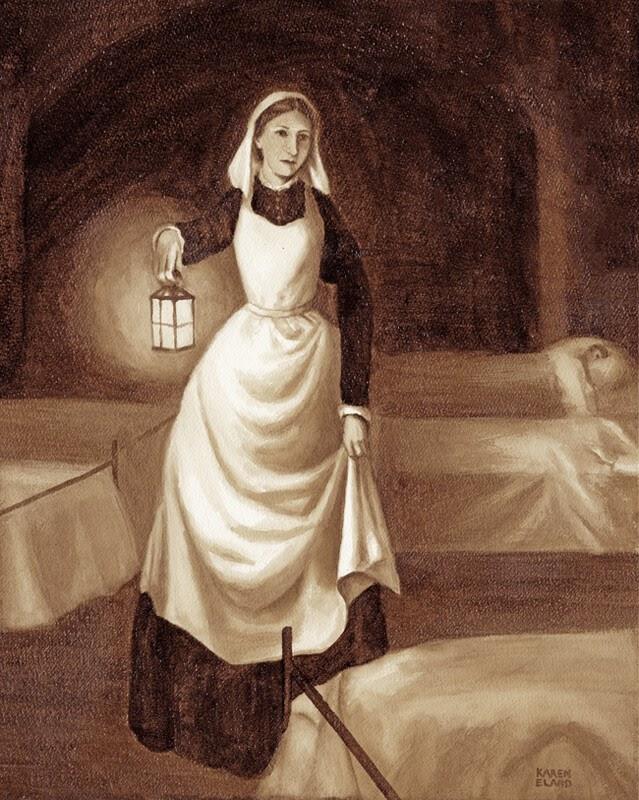 10-Florence-Nightingale-Karen-Eland-The-World-Through-Coffee-Paintings-www-designstack-co