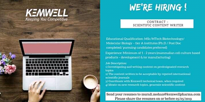 Vacancy for content writer