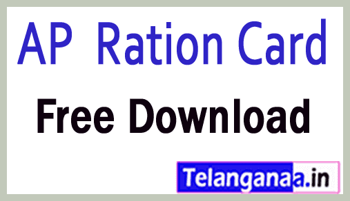 Andhra Pradesh AP Food Security Card Ration Card Free Download