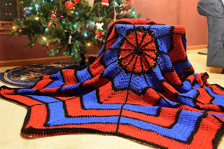 spider-man crochet blanket