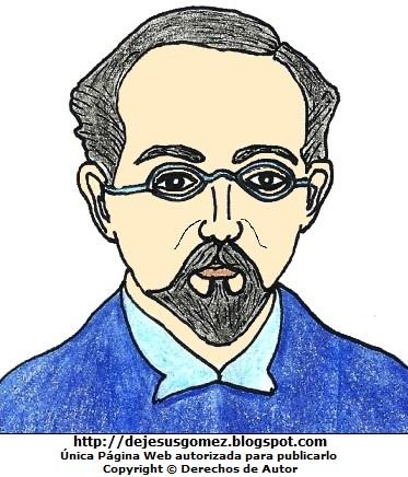 Dibujo de Carlos A. Carrillo a colores para niños. Imagen de Carlos A. Carrillo hecha por Jesus Gómez
