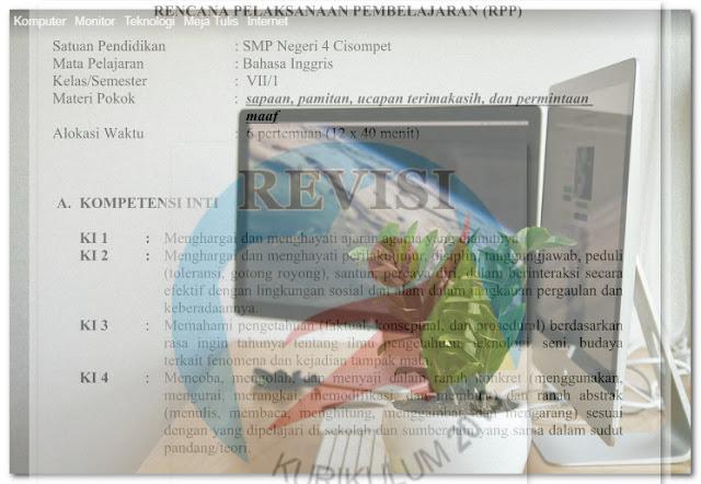 RPP K13 SMP Bahasa Inggris