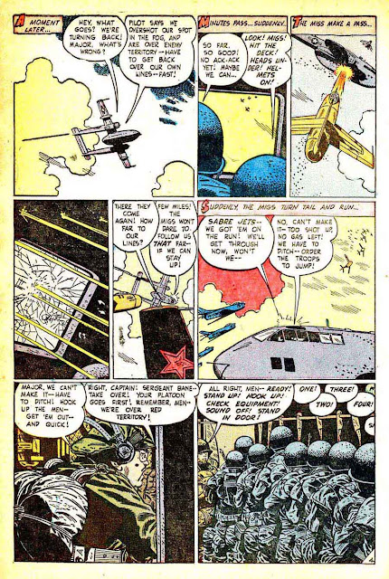 Exciting War v1 #8 standard war comic book page art by Alex Toth
