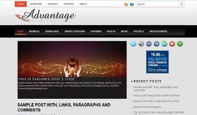 Advantage - Magazine Style Blogger Template - Magazine blog