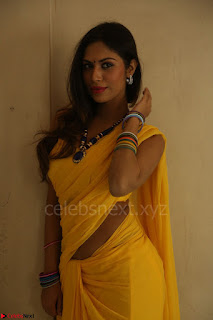 Nishigandha in Yellow backless Strapless Choli and Half Saree Spicy Pics 113.JPG
