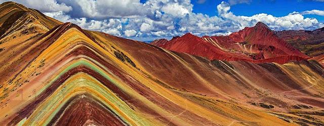 Vista panorámica de la Montaña de los Siete colores