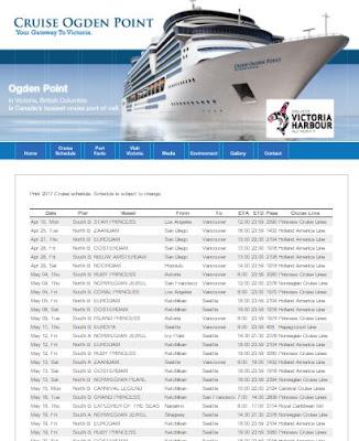 victoria crusie ships 2017