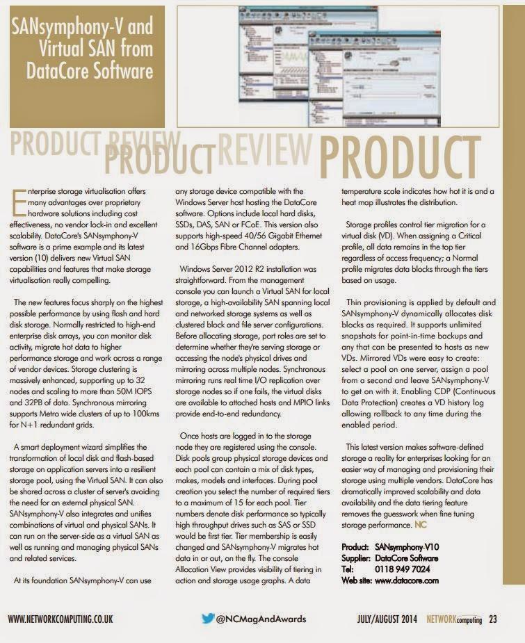 DataCore Produkte im Test bei Network Computing Technology