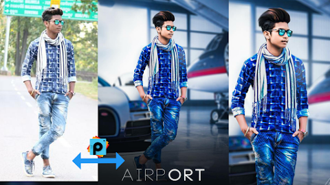 PicsArt Manipulation Airport Photo Editing tutorial || A k Editz