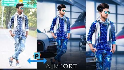 PicsArt Manipulation Airport Photo Editing tutorial || A k Editz
