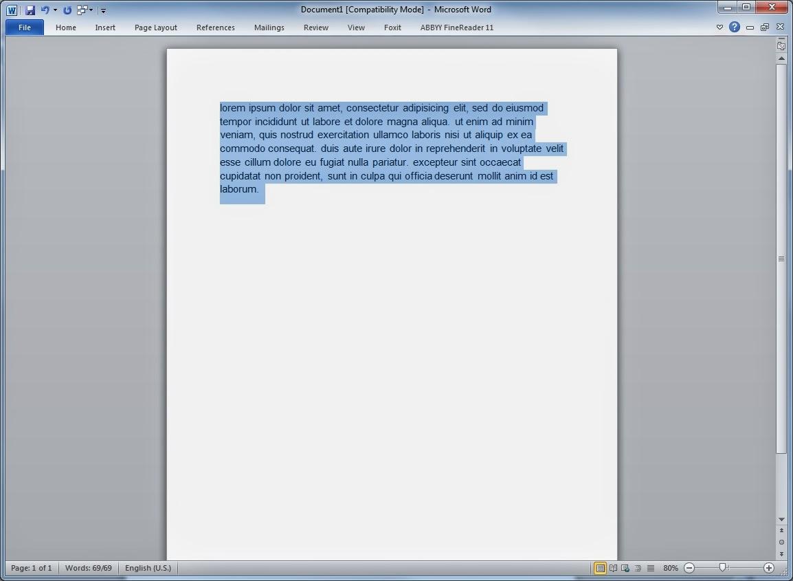 Texto Word - Conversão minúsculas