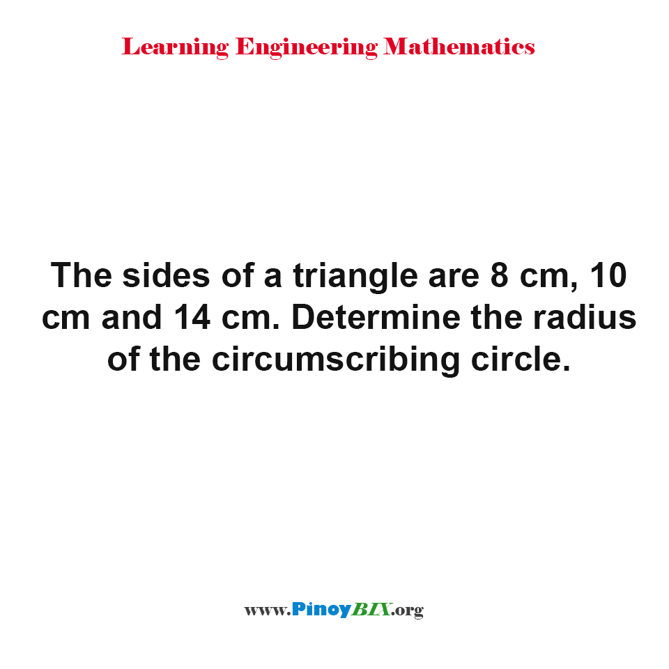 Determine the radius of the circumscribing circle