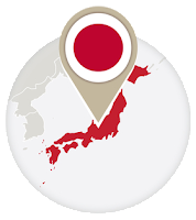Japanese flag and map
