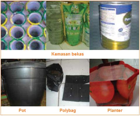 Macam-Macam Aternatif Wadah Tanam - kemasan bekas, pot, polybag, dan planter