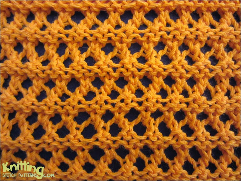 Rows Of Eyelets Knitting Stitch Patterns