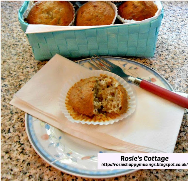 Delicious banana muffins, enjoy!