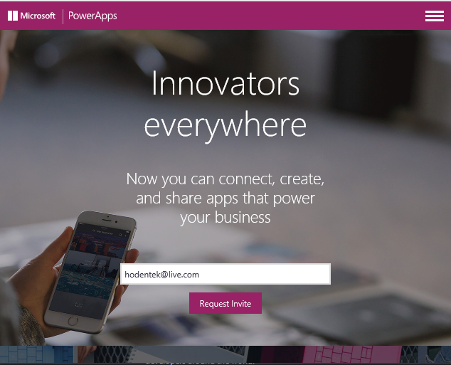 Hodentek: New Microsoft Software-as-a-Service: PowerApps