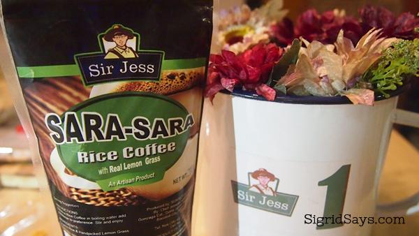 sara-sara coffee, healthy food options