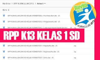 RPP K13 SD Kelas 1 Tema 5 Subtema 1 2 3 4
