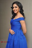 Actress Ritu Varma Pos in Blue Short Dress at Keshava Telugu Movie Audio Launch .COM 0076.jpg
