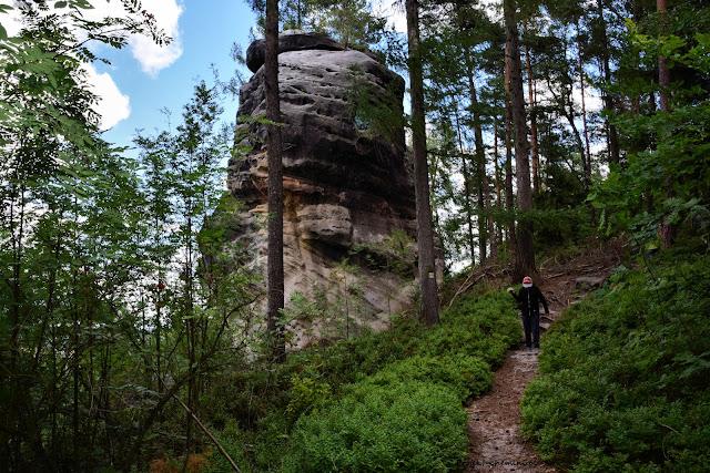 Vrch Sokol i piaskowcowe ostańce