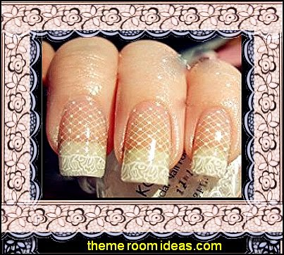 3D Nail Art Fashion Lace Flowers Stickers Nail DIY Decals
