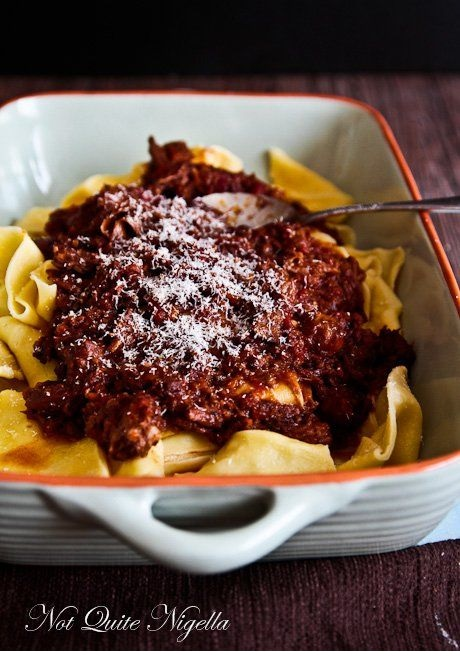 Oxtail Ragu With Pappardelle