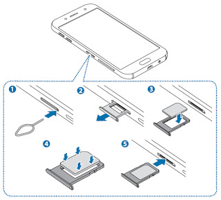 Installing the SIM or USIM card