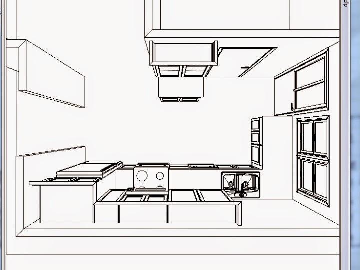 Kitchen Countertops Birds Eye Viw