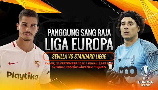 PREDIKSI Sevilla vs Standard Liege: Sang Raja Liga Eropa